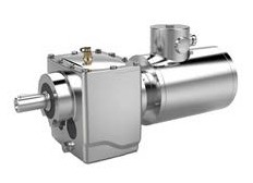 Stainless Steel helical gearmotors with terminal box