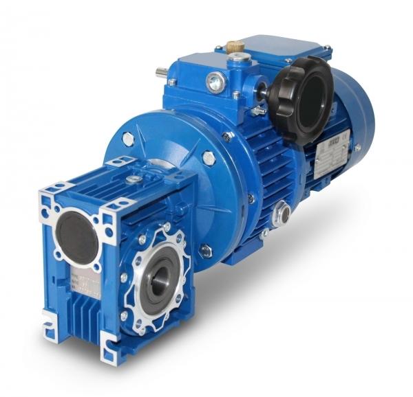 SEVA- CMRV040+V02-632- 4- 0,18 kW- 4,5-22 Upm Schnecken- Verstellgetriebemotor