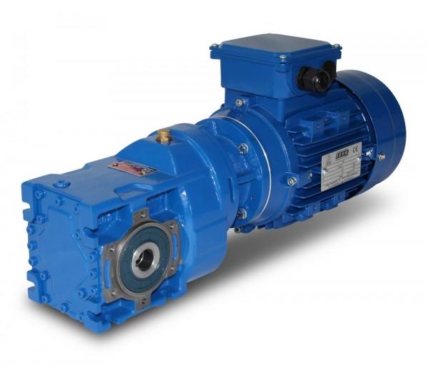 Kegelradgetriebemotor SEVA-KV003-63-4-0,12 kW-59 Upm
