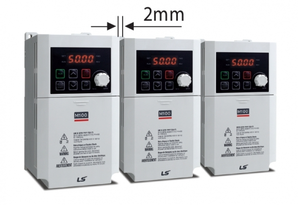 Small Distance between the M100 Frequency Inverters