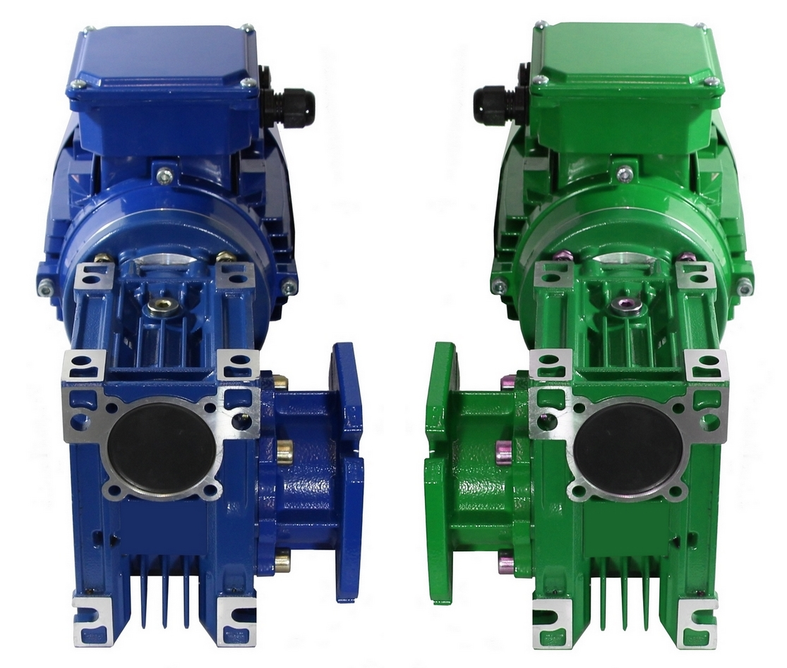 Flansch- Schneckengetriebe- Motor