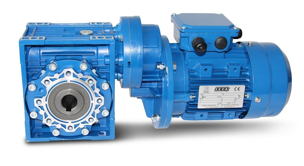 Worm geared motor 075+PC071-711-6 - 0 18 KW - 3 rpm | Seva