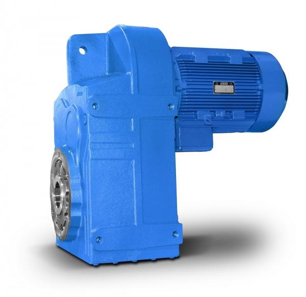 Flachgetriebemotor-Klemmkasten-unten