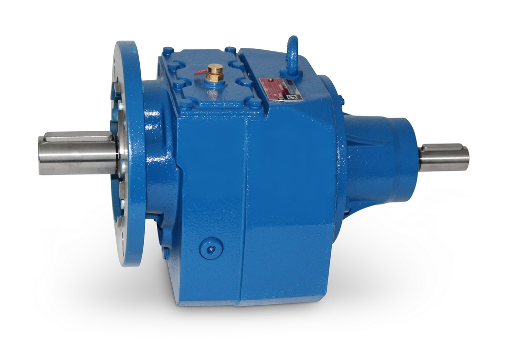 Gear motor with two shafts