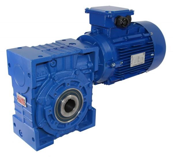 SEVA- EV 100-90L1-1,5 kW-70 Upm Schneckengetriebe + AC-Motor
