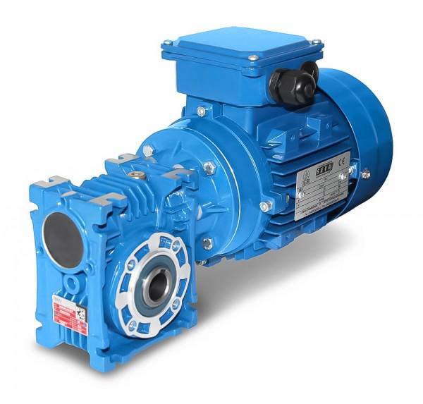 SEVA- EV 040-711-0,25 kW-54 Upm Schneckengetriebe + AC-Motor