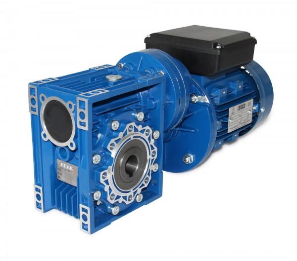 SEVA- CMRV 063+PC071-ML712-6 - 0,25 KW - 6 Upm- 230 Volt Schneckengetriebemotor