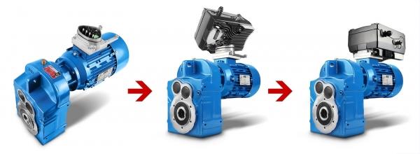 Getriebe - Frequenzumrichter - Motor