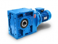 Helical bevel gearbox with three-phase motor