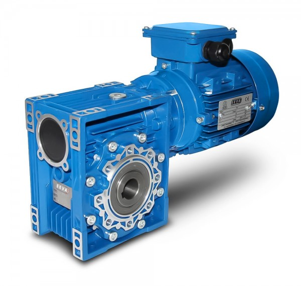SEVA- CMRV 075-90L-6 - 1,1 kW - 45 rpm- Worm Gearbox Motor